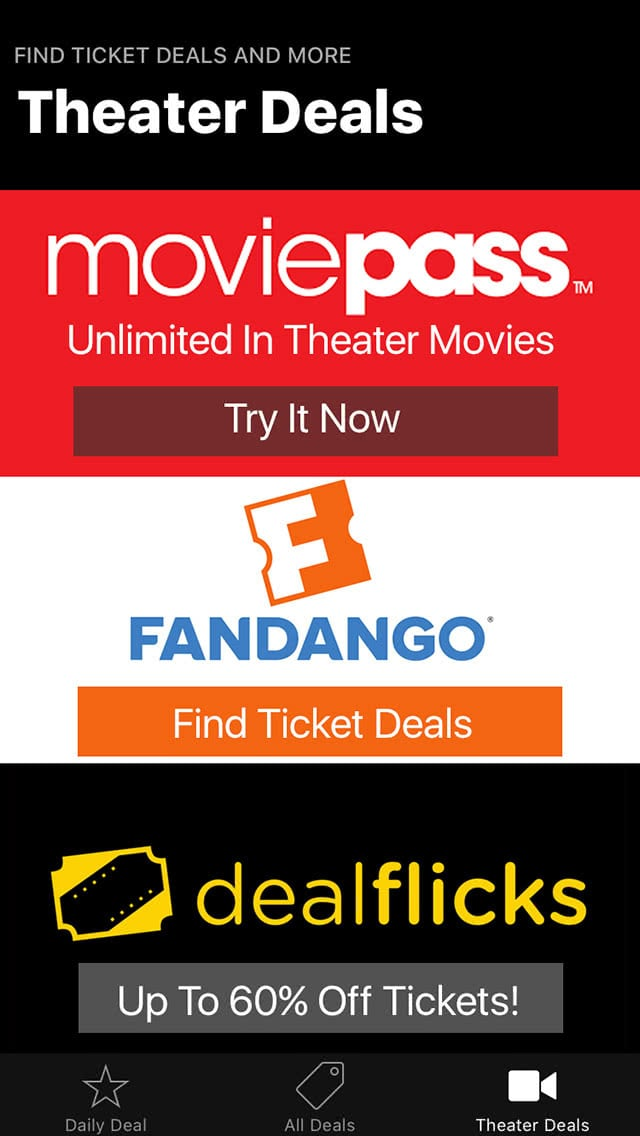 Movie Deals Daily Theater Deals