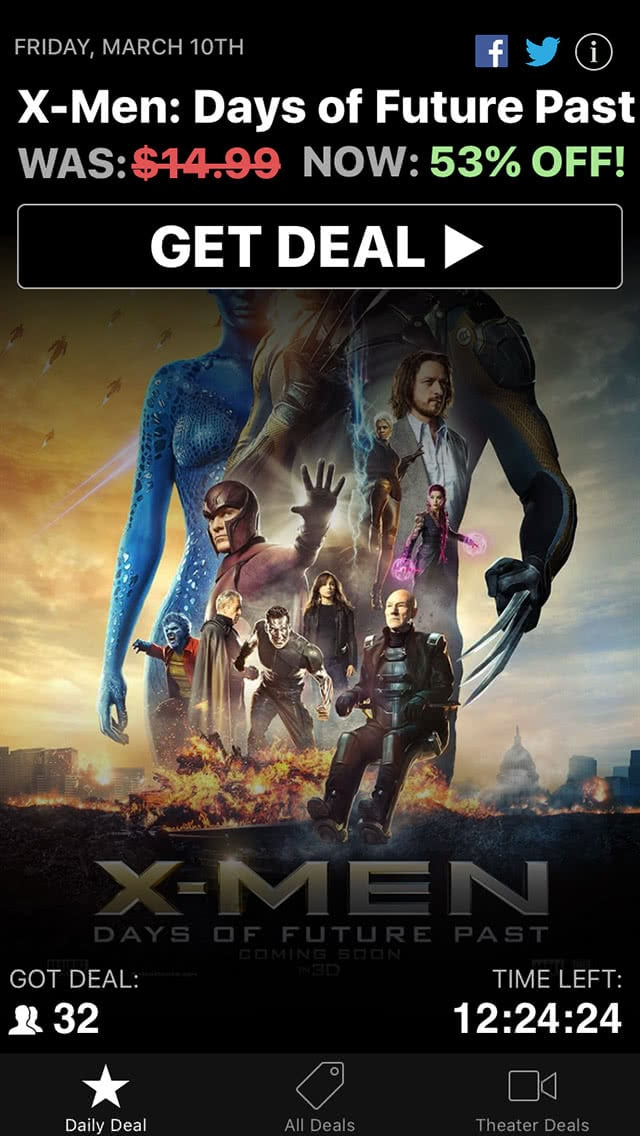 Movie Deals Daily Xmen Deal